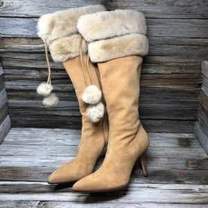 Cole Haan Mink, Suede, Inga Tall Boots/Booties Tan